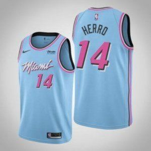 Miami Heat Tyler Herro Blue City Edition Jersey